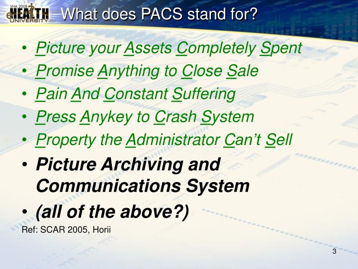 What does pacs stand for