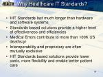 why healthcare it standards