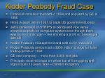 kidder peabody fraud case