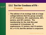 12 2 test for goodness of fit example17