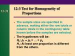 12 3 test for homogeneity of proportions31