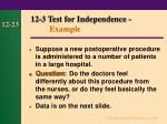 12 3 test for independence example