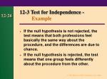 12 3 test for independence example26