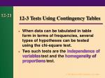 12 3 tests using contingency tables