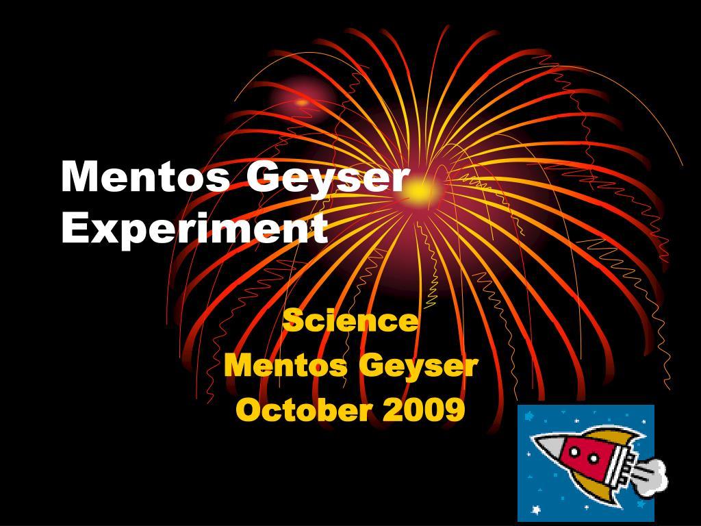 mentos geyser experiment l.