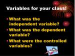 variables for your class