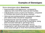 examples of stereotypes
