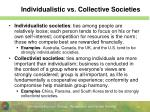 individualistic vs collective societies