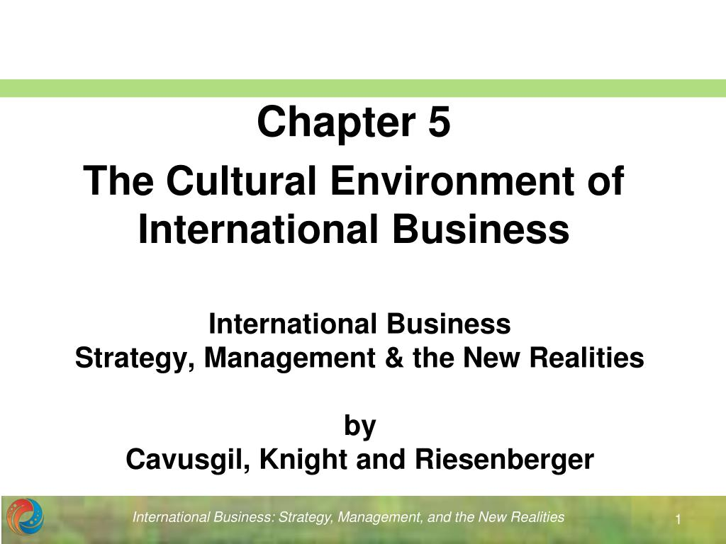 international business strategy management the new realities by cavusgil knight and riesenberger l.