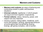 manners and customs