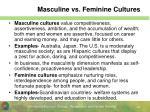 masculine vs feminine cultures