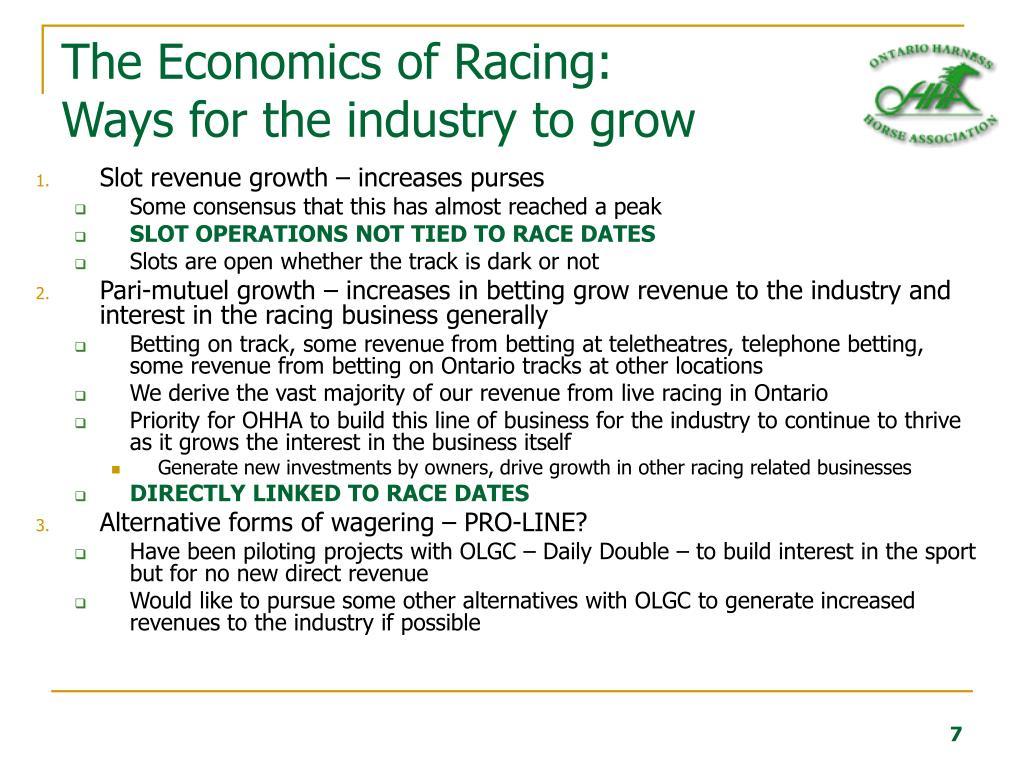 The Economics of Racing: