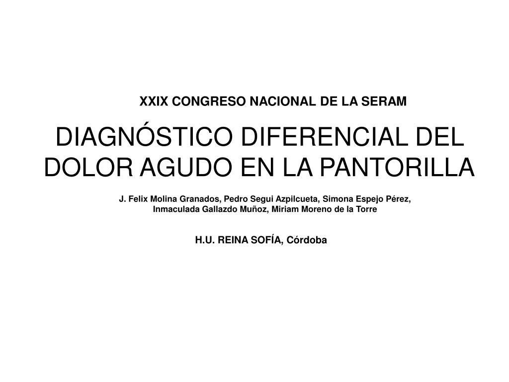 diagn stico diferencial del dolor agudo en la pantorilla l.