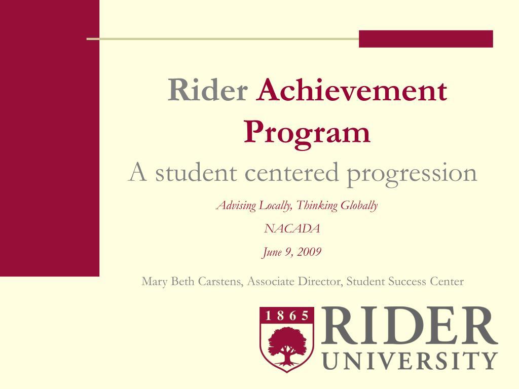 rider achievement program l.