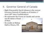 ii governor general of canada