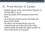 iii prime minister of canada