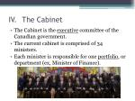 iv the cabinet