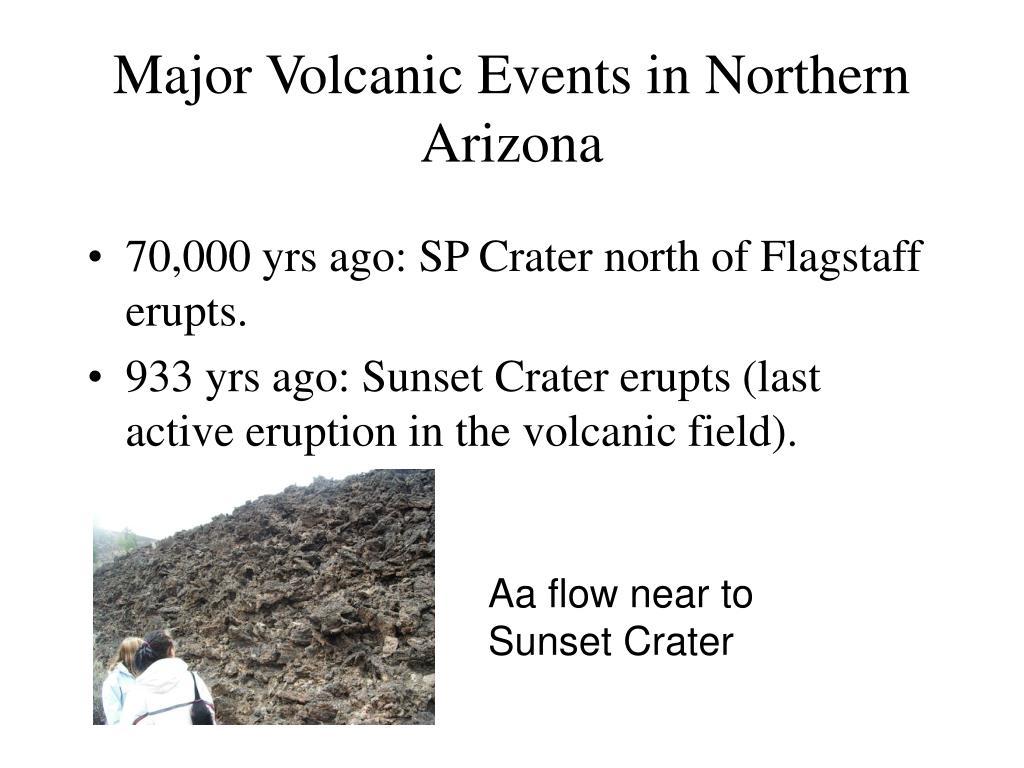 Major Volcanic Events in Northern Arizona