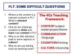 flt some difficult questions