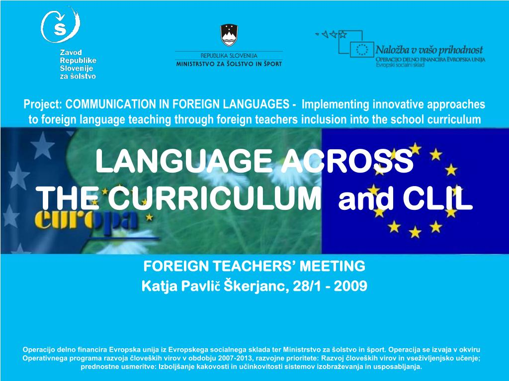 foreign teachers meeting katja pavli kerjanc 28 1 2009 l.