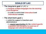 goals of lac