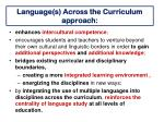 language s across the curriculum approach