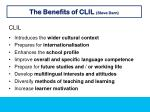 the benefits of clil steve darn