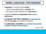 using language the paradox