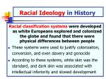 racial ideology in history