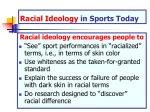 racial ideology in sports today