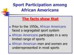 sport participation among african americans