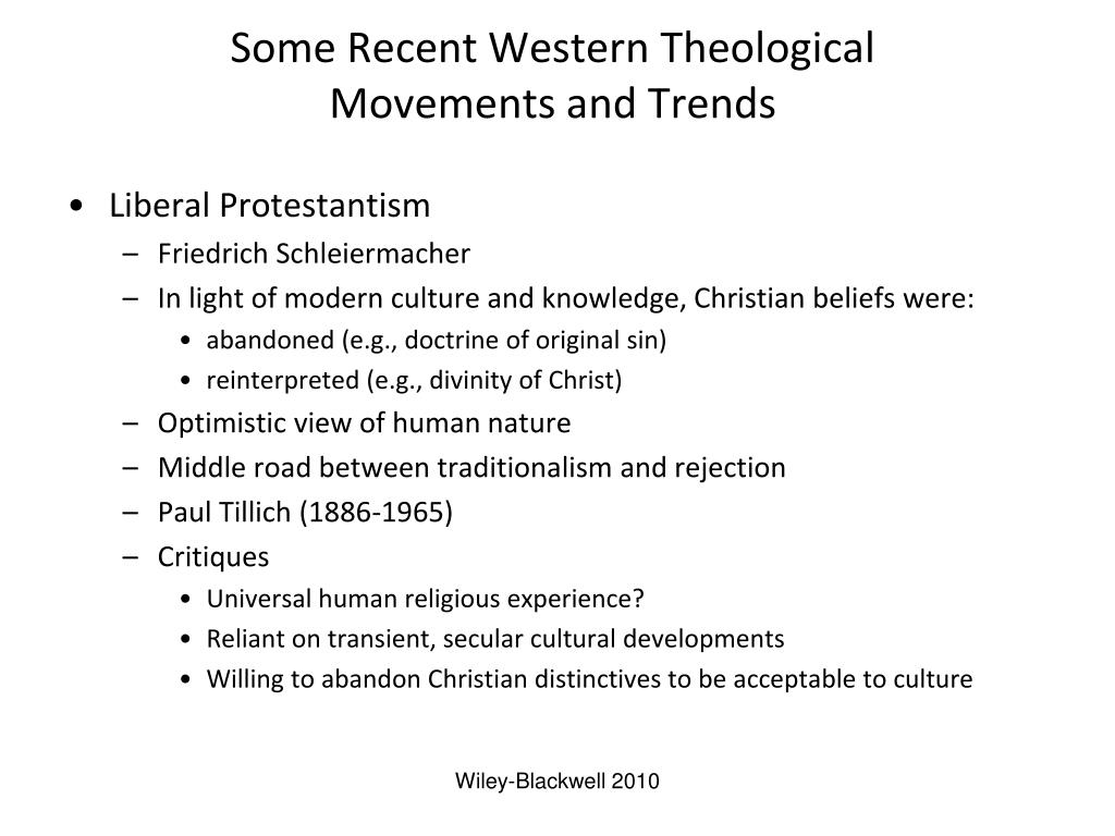 Some Recent Western Theological