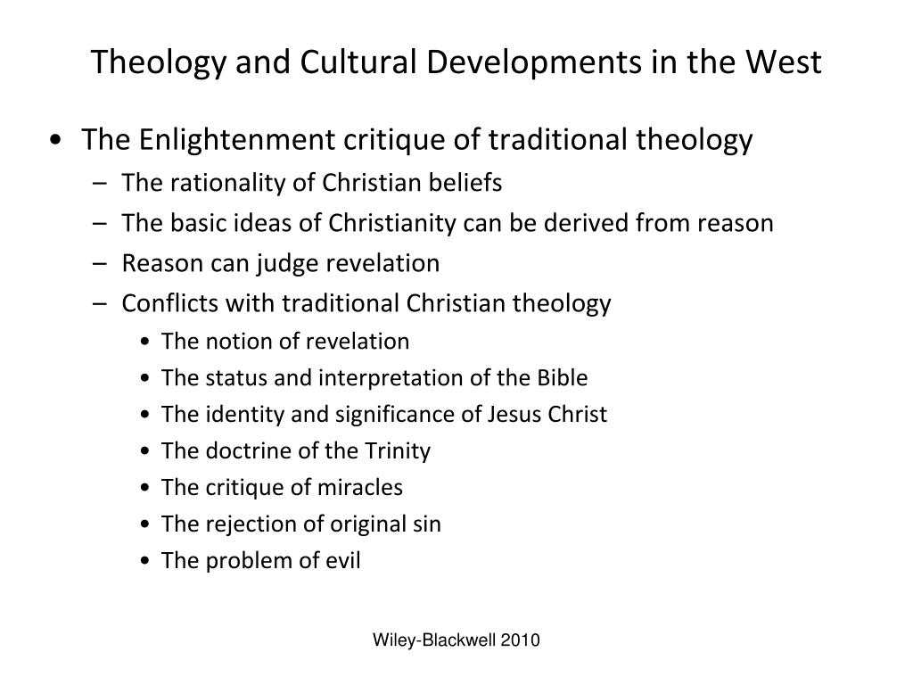 Theology and Cultural Developments in the West