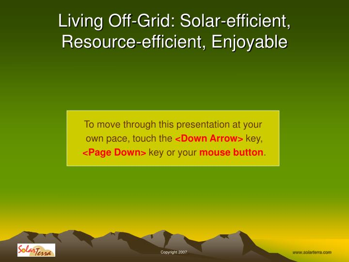 living off grid solar efficient resource efficient enjoyable n.