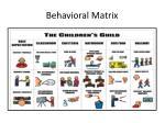behavioral matrix74