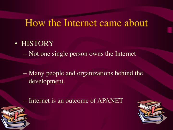 How the internet came about