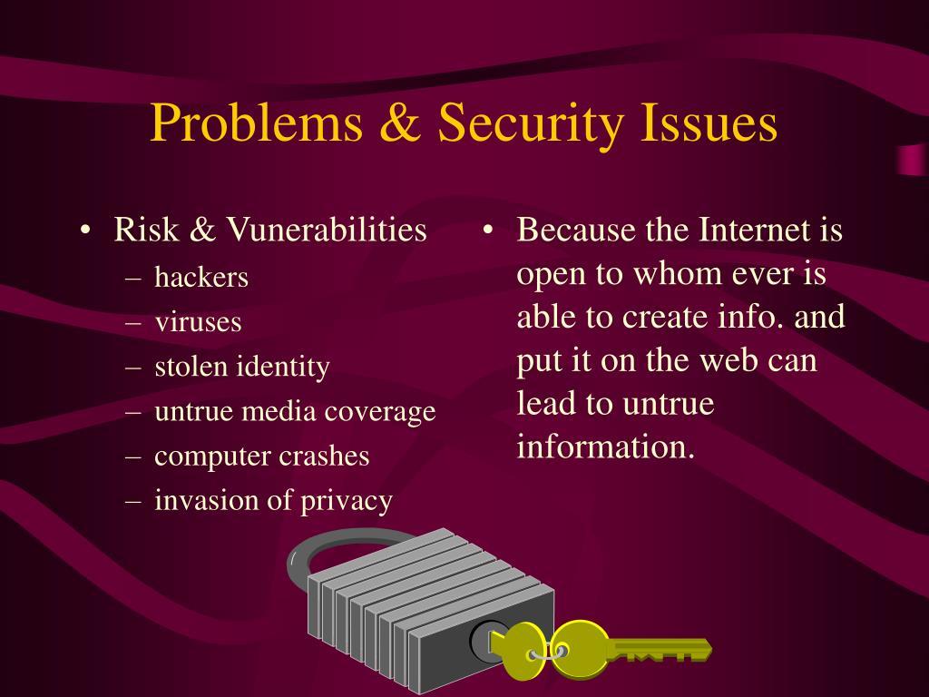 Risk & Vunerabilities