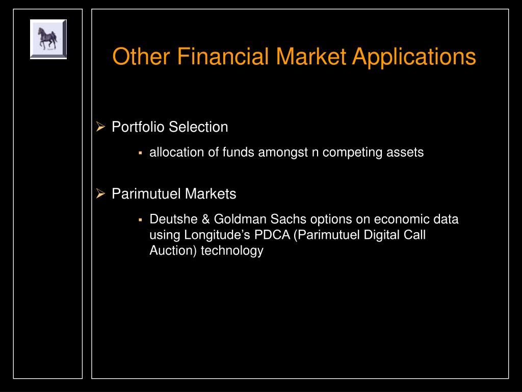 Other Financial Market Applications