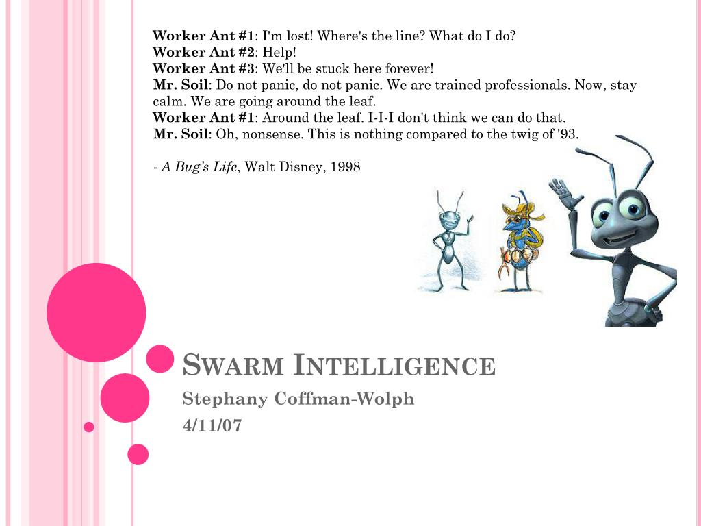 swarm intelligence l.