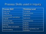 process skills used in inquiry