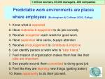 predictable work environments are places where employees buckingham coffman 2002 gallup