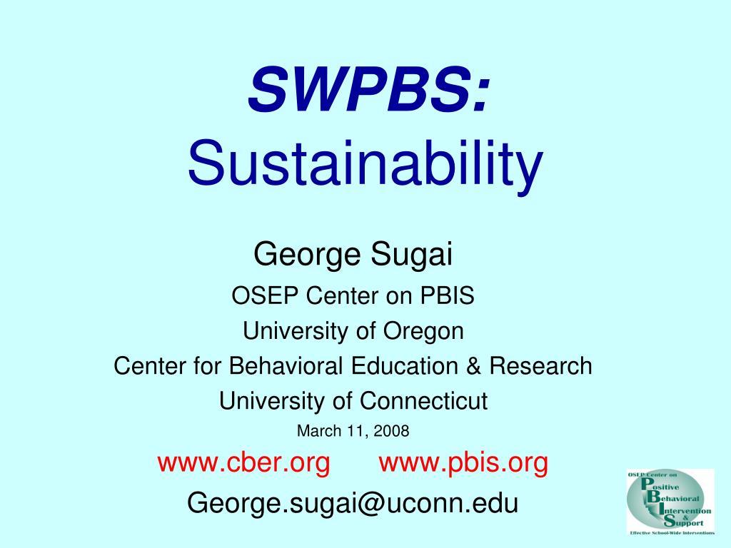 swpbs sustainability l.