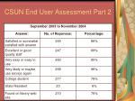 csun end user assessment part 2