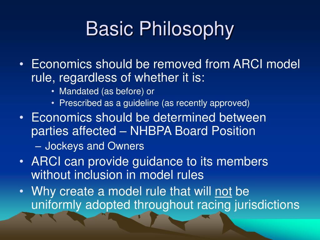 Basic Philosophy