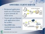 openmrs client server
