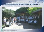 openmrs implementers meetings