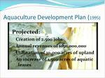 aquaculture development plan 1995