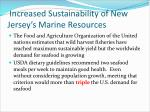 increased sustainability of new jersey s marine resources