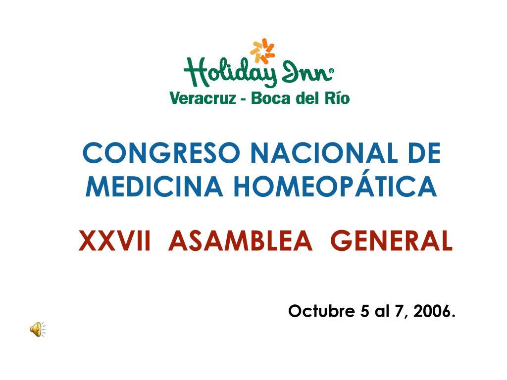 congreso nacional de medicina homeop tica xxvii asamblea general l.