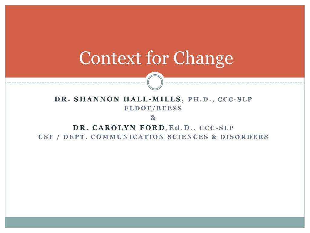 context for change l.